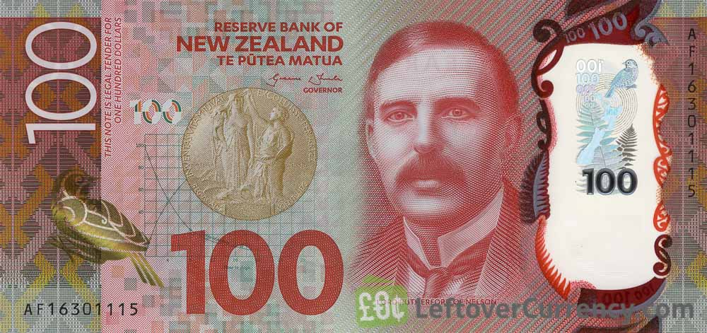 100 New Zealand Dollars Banknote Series 2017