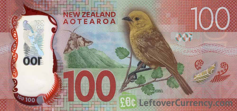 100 New Zealand Dollars banknote series 2015