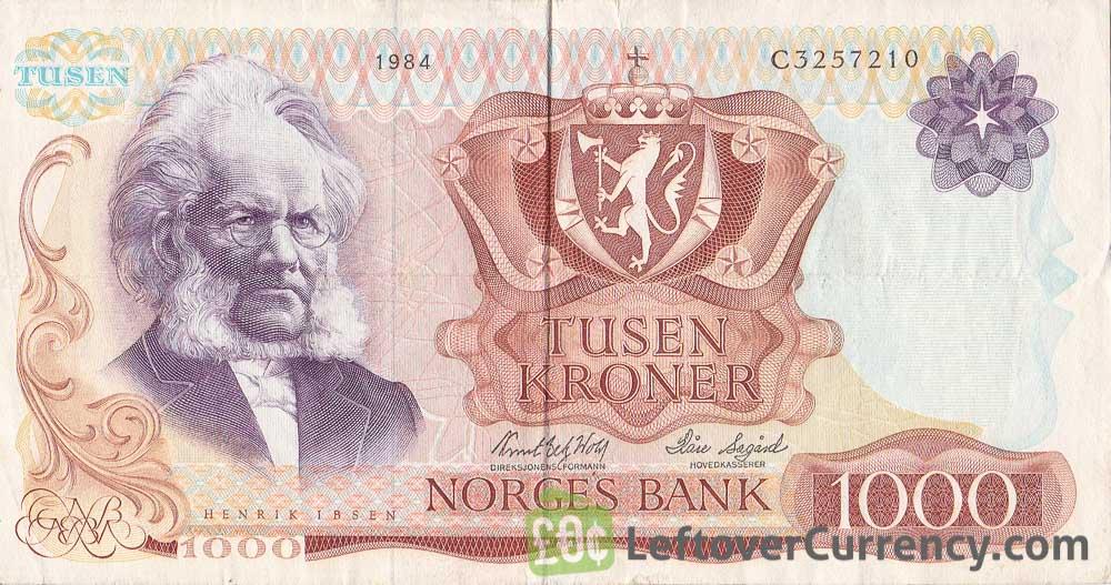 1000 Norwegian Kroner banknote (Henrik Ibsen)