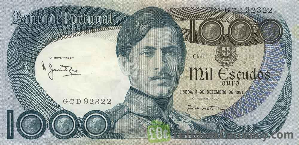 1000 Portuguese Escudos banknote (Dom Pedro V)