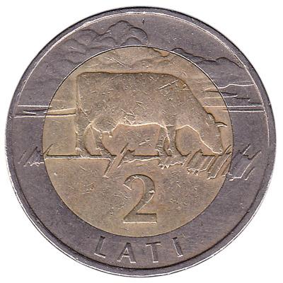 2 Lati coin Latvia