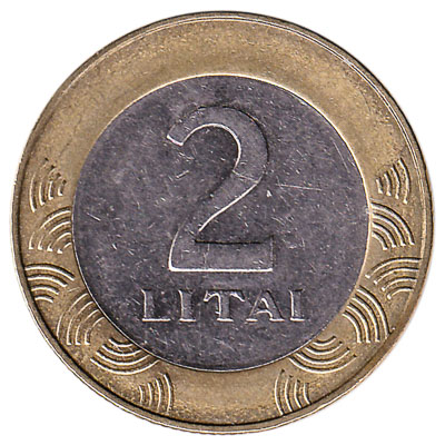 2 Litai coin Lithuania