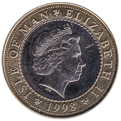 2 Manx Pounds coin