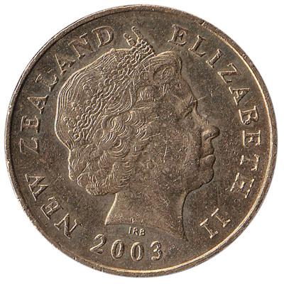 2 New Zealand dollars coin