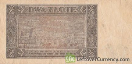 2 old Polish Zlote banknote (1948 issue) reverse accepted for exchange