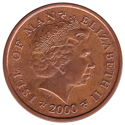 2 Pence coin Isle of Man