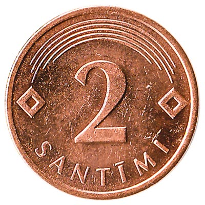 2 Santimi coin Latvia