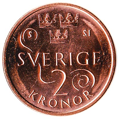 2 Swedish Kronor coin (minted from 2016)