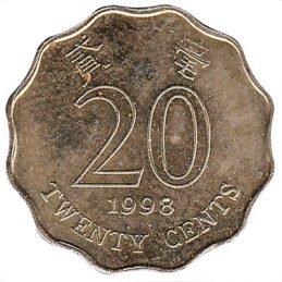 20 Cents coin Hong Kong