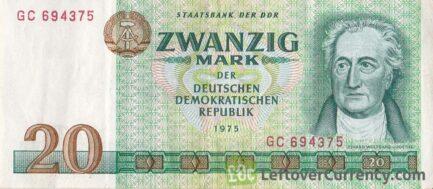 20 DDR Mark banknote (Goethe)
