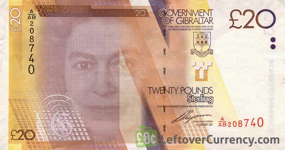 20 Gibraltar Pounds banknote (HMS Victory)