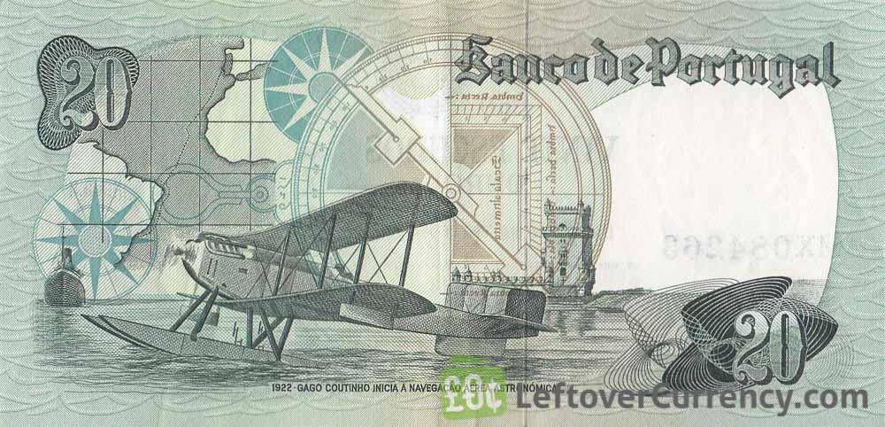 20 Portuguese Escudos banknote (Admiral Gago Coutinho)