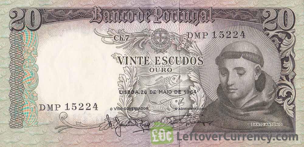 20 Portuguese Escudos banknote (Santo António)