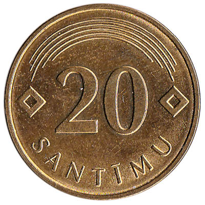 20 Santimu coin Latvia