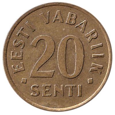 20 Senti coin Estonia (gold colored)