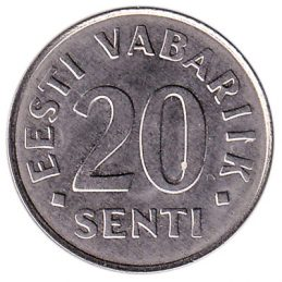 20 Senti coin Estonia