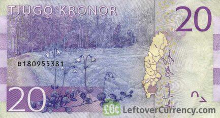 20 Swedish Kronor banknote (Astrid Lindgren)