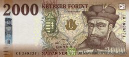 2000 Hungarian Forints banknote (Prince Gabor Bethlen 2016) obverse