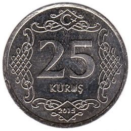 25 Kurus coin Turkey