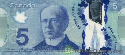 5 Canadian Dollars banknote (Frontier Series)