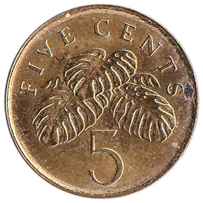 5 Cents coin Singapore (Second series)
