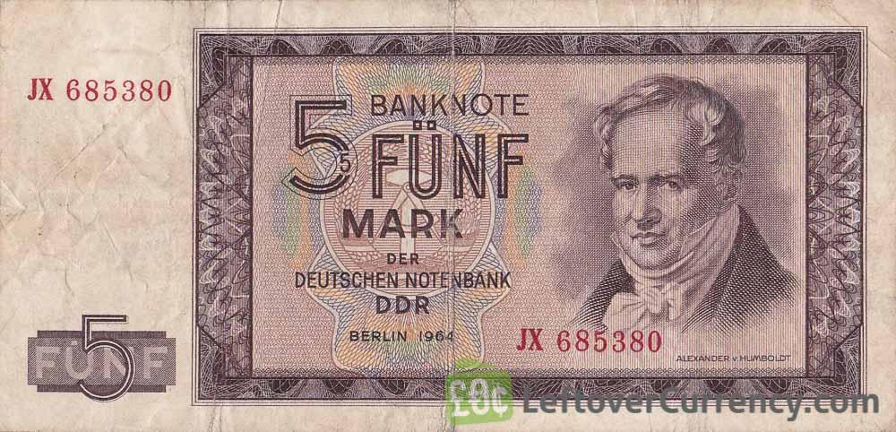 5 DDR Mark banknote (Alexander von Humboldt)
