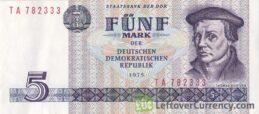 5 DDR Mark banknote (Thomas Müntzer)