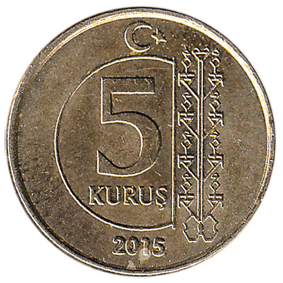 5 Kurus coin Turkey