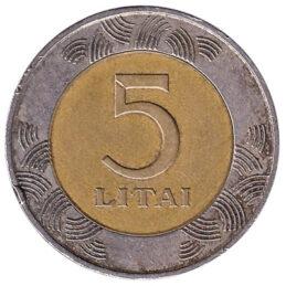 5 Litai coin Lithuania