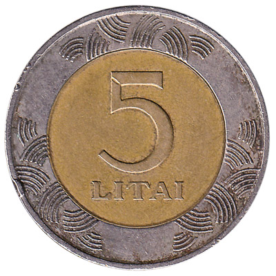 5 Litai coin Lithuania