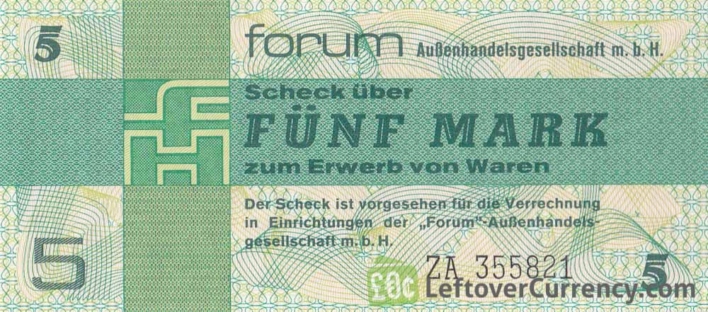 5 Mark ForumScheck DDR (1979)