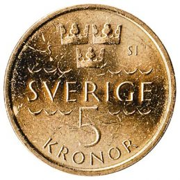 5 Swedish Kronor coin (minted from 2016)