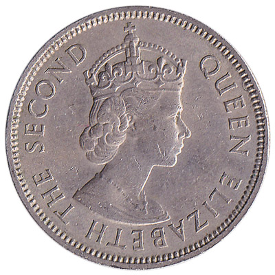 50 Cents coin Hong Kong (Queen Elizabeth II crowned)