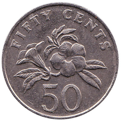 50 Cents coin Singapore (Second series)