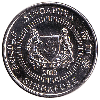 50 Cents coin Singapore (Third series)