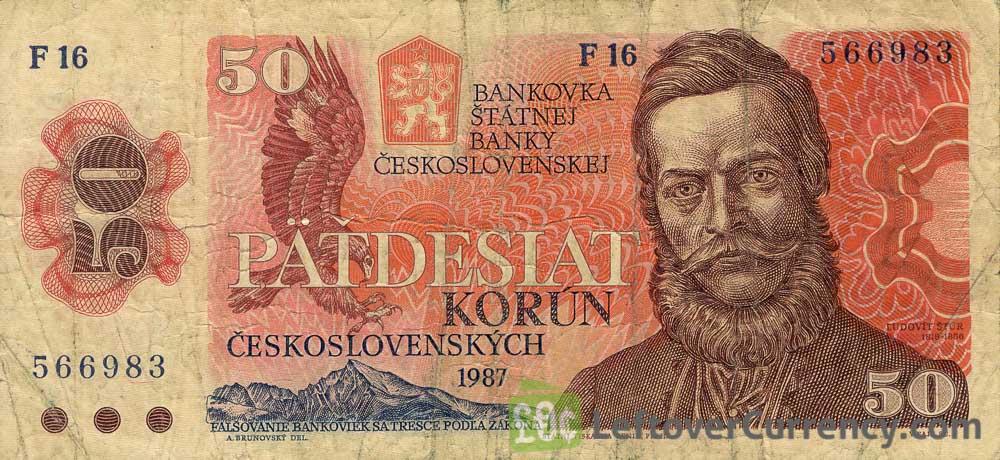 50 Czechoslovak Korun banknote 1987 (Ludovit Stúr)