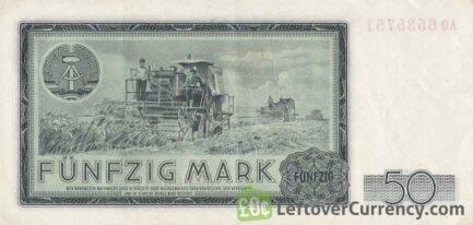 50 DDR Mark banknote (Friedrich Engels 1964)