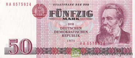 50 DDR Mark banknote (Friedrich Engels)