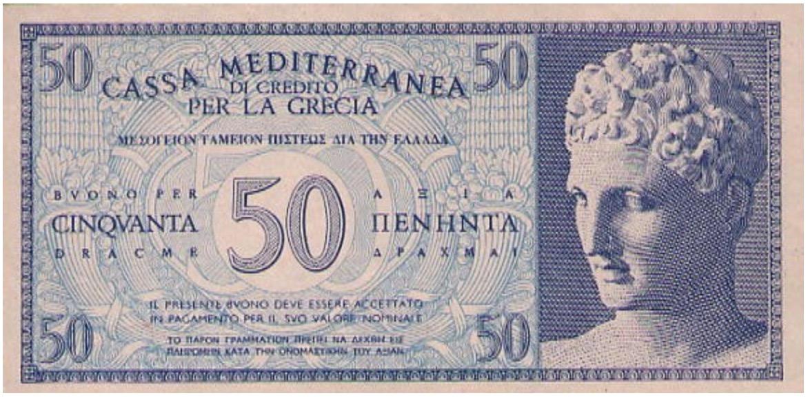 50 Dracme Cassa Mediterranea banknote