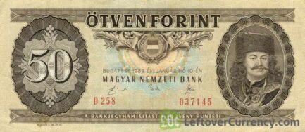 50 Hungarian Forints banknote (Ferenc Rakoczi II)