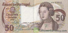 50 Portuguese Escudos banknote (Infante Dona Maria)