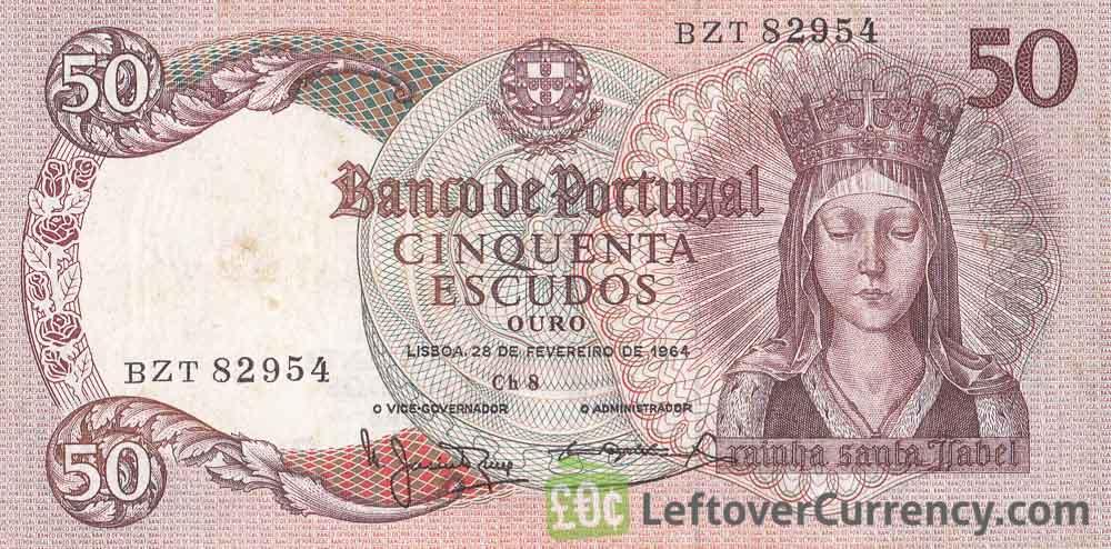 50 Portuguese Escudos banknote (Rainha Santa Isabel)