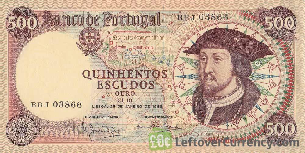 500 Portuguese Escudos banknote (João II)