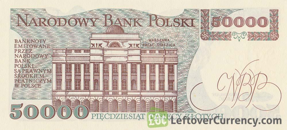 50000 old Polish Zloty banknote Stanisław Staszic - Exchange yours