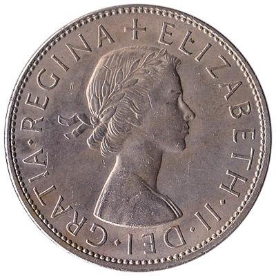 British predecimal half crown coin