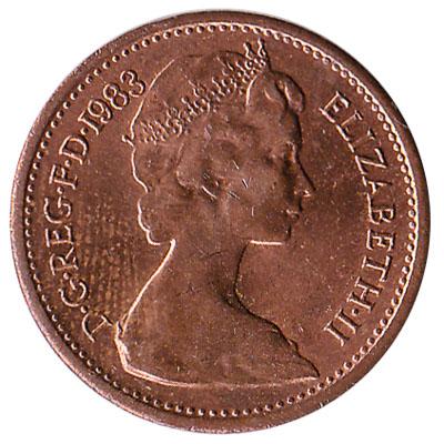 British decimal half penny coin