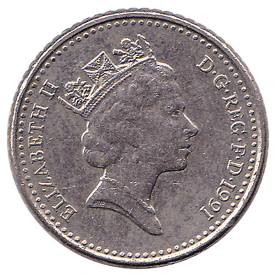 British large style 5p coin
