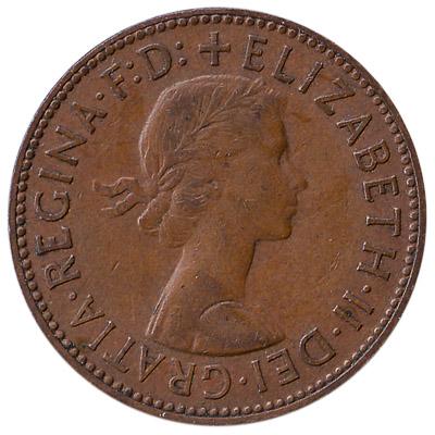 British predecimal halfpenny coin