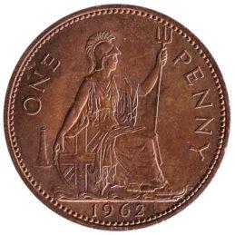 British predecimal penny coin