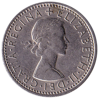 British predecimal sixpence coin